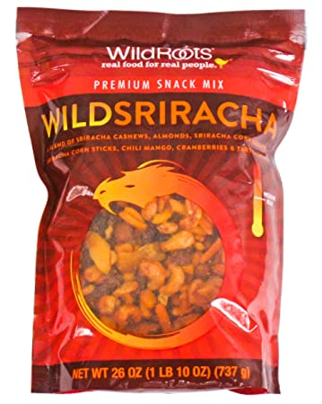 Wild Roots Wild Sriracha Nut & Fruit Snack Mix, Medium Hot (26oz Bag)