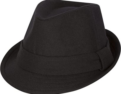8121F - Sakkas Unisex Structured Wool Fedora Winter Hat ( 3 Colors ) - Black/S/M