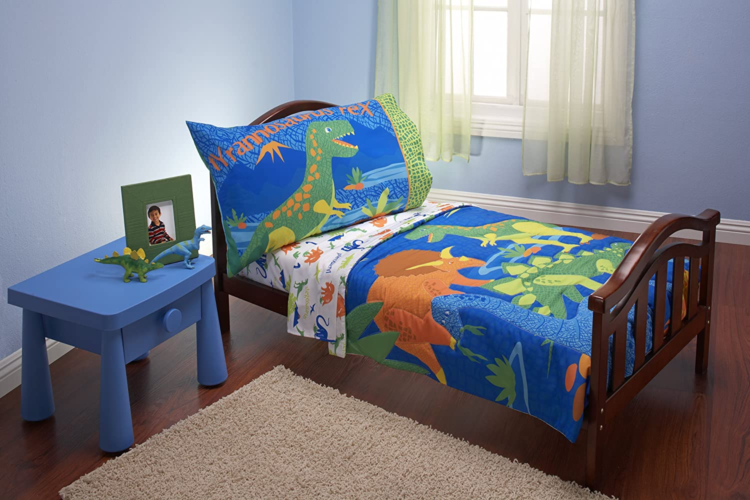 Everything Kids 4 Piece Toddler Bedding Set Dinosaurs