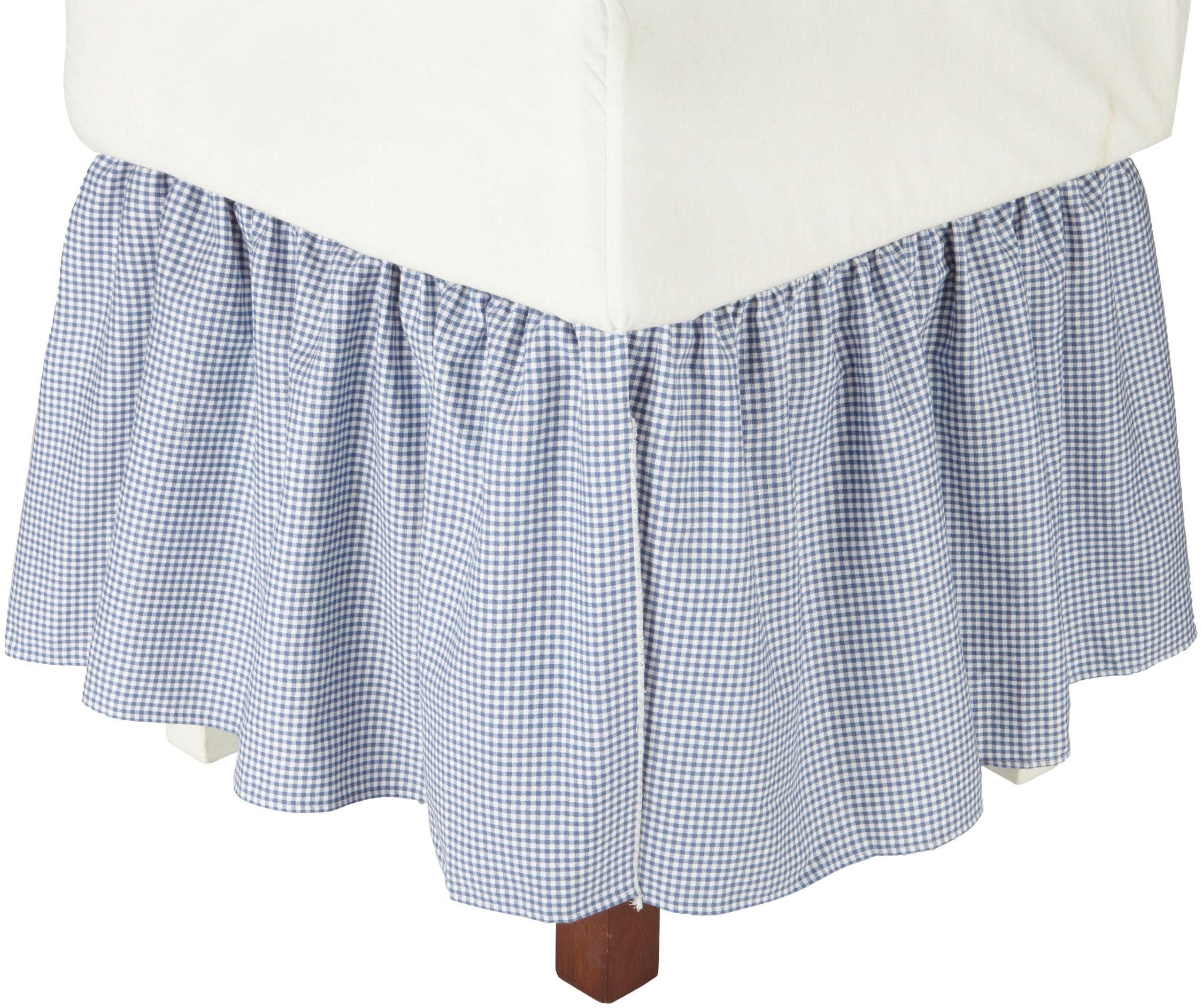 Logan Gingham Check Print 18 Inch Dust Ruffle Bed Skirt