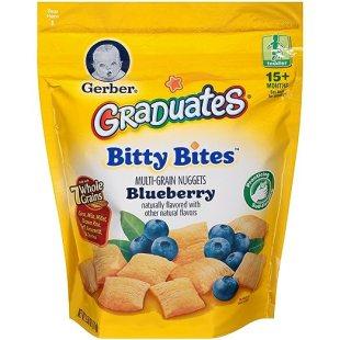 Gerber Graduates Bitty Bites, Blueberry, 4 Count, 2.50 Oz