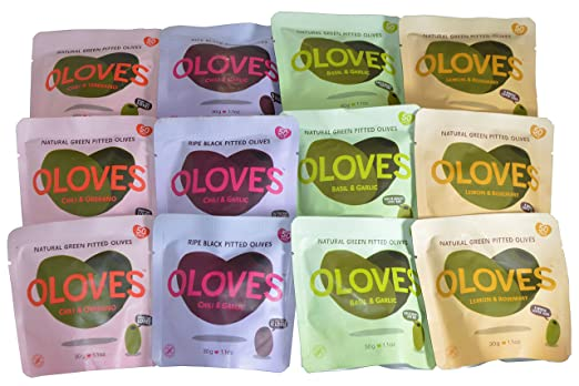 Oloves Olives Variety Pack of 12