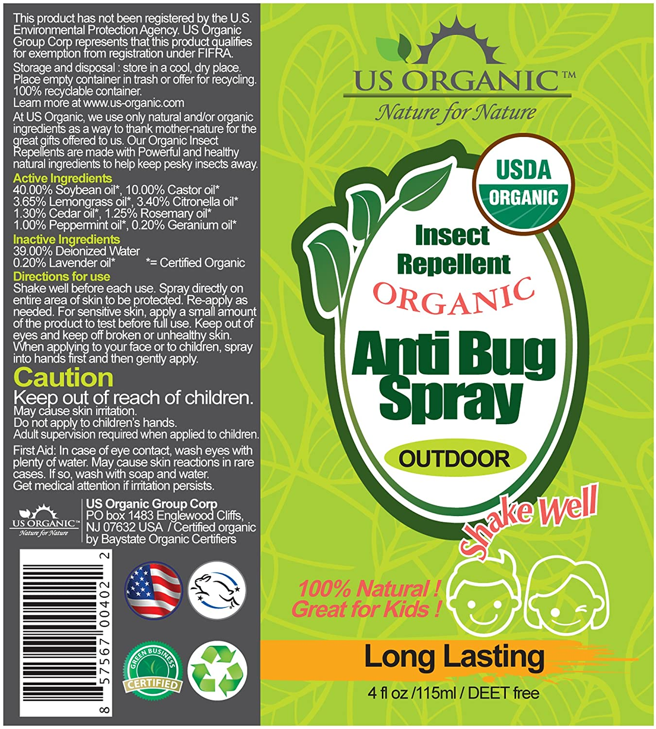 Organic Anti Bug Spray