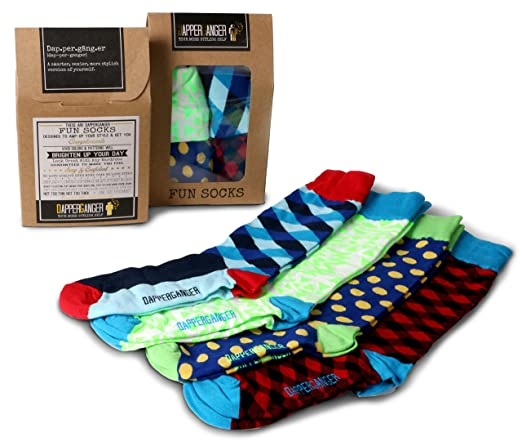 DapperGanger Mens Patterned Socks Fun - Lumberjack Edition