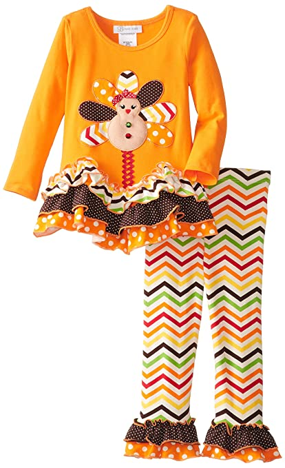 Bonnie Jean Little Girls' Gingerbread Turkey Legging Set