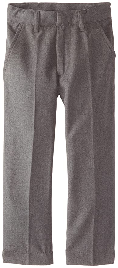 Smith's American Little Boys' Flat Front Flannel Pant, Grey, 7