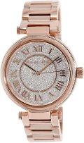 Michael Kors MK5868 Skylar Rose Goldtone Stainless Steel Two-Hand Bracelet Rose Gold Watch