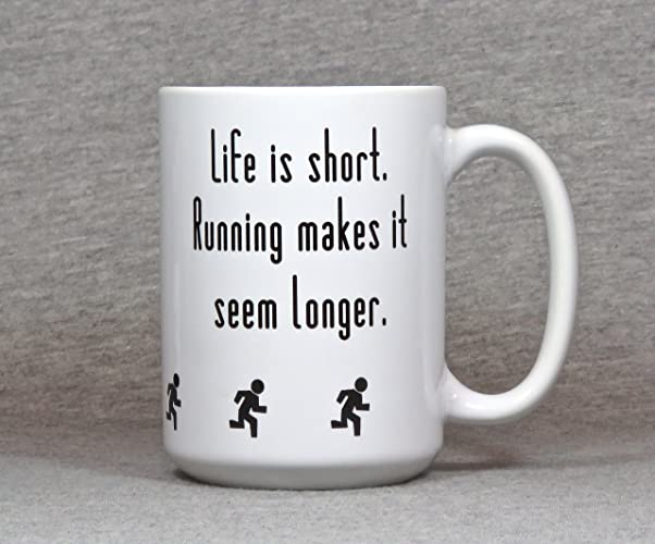 Runner mug, large 15 ounce ceramic running mug