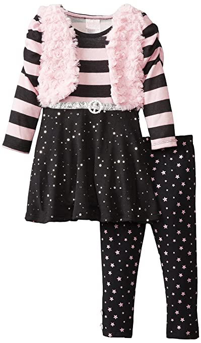 Nannette Little Girls' Two-Piece Star Legging Pant Set