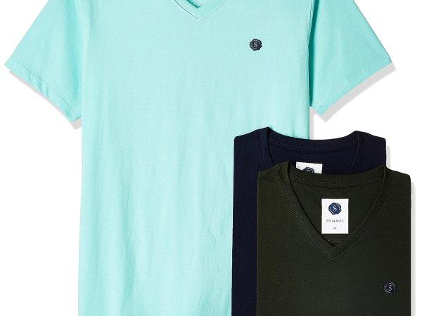 Symbol Men's V-NeckT-Shirt (Pack of 3)