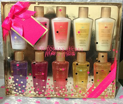 Victoria's Secret 10 Piece Lotion & Body Wash Set Pure Seduction, Love Spell, Passion Struck & More