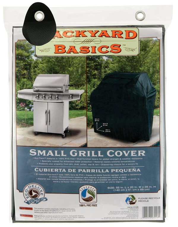 Backyard Basics 07216BB Small Grill Cover, 55-Inch by 20 ...