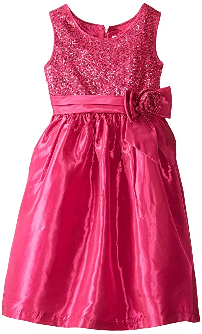 Jayne Copeland Big Girls' Sequin Taffeta, Fuchsia, 7