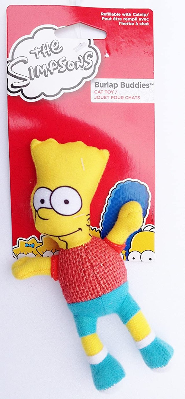 The Simpsons BART SIMPSON Cat Toy REFILLABLE with CATNIP