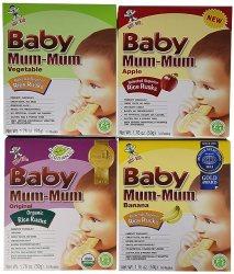Mum Mum Rice Biscuits - Variety Pack - 1.76 oz - 4 pk