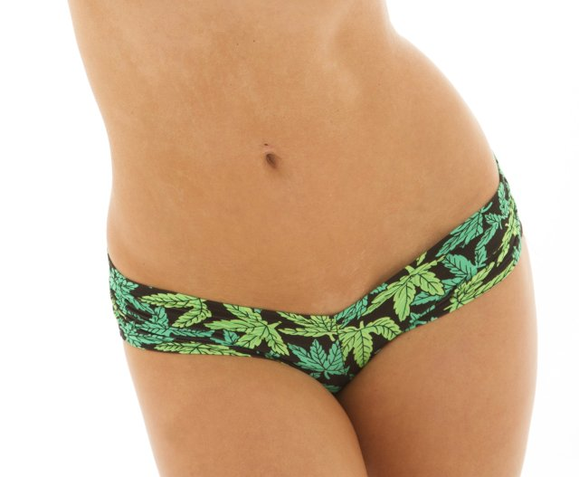 Sassy Assy Scrunchie Booty Shorts Marijuana Clothing