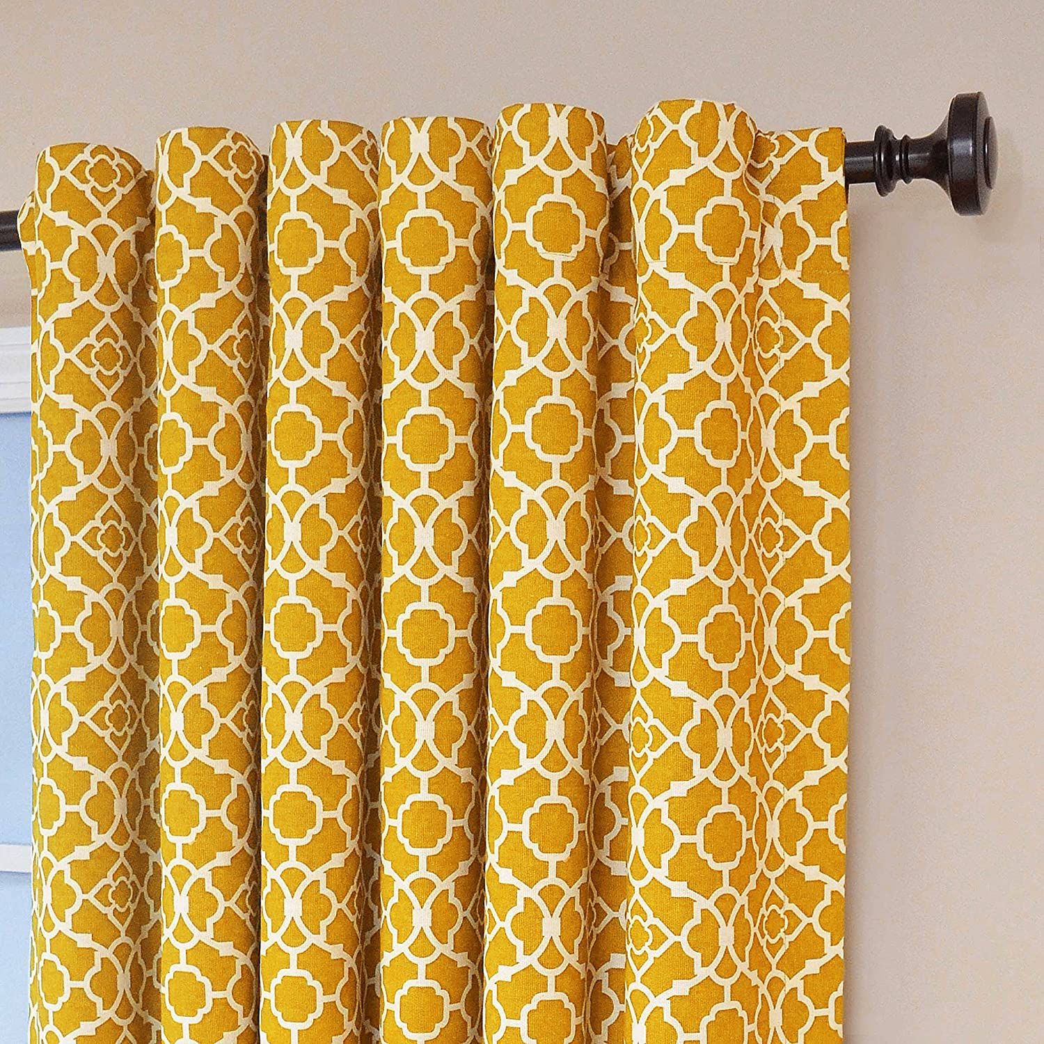 Waverly Lovely Lattice Panel Curtains 50 X 84 Inch