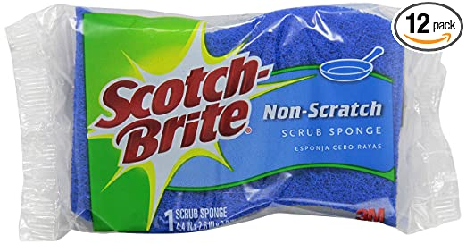Scotch-Brite Multi-Purpose Scrub Sponge 521, 1-Count (Pack of 12)