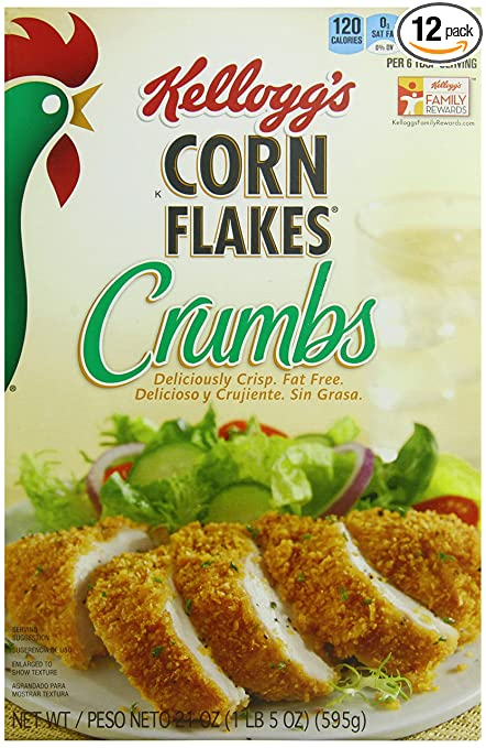 Kellogg's Corn Flake Crumbs, 21-Ounce Boxes (Pack of 12)
