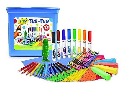 Crayola 75 Piece Art Tub of Fun Toy