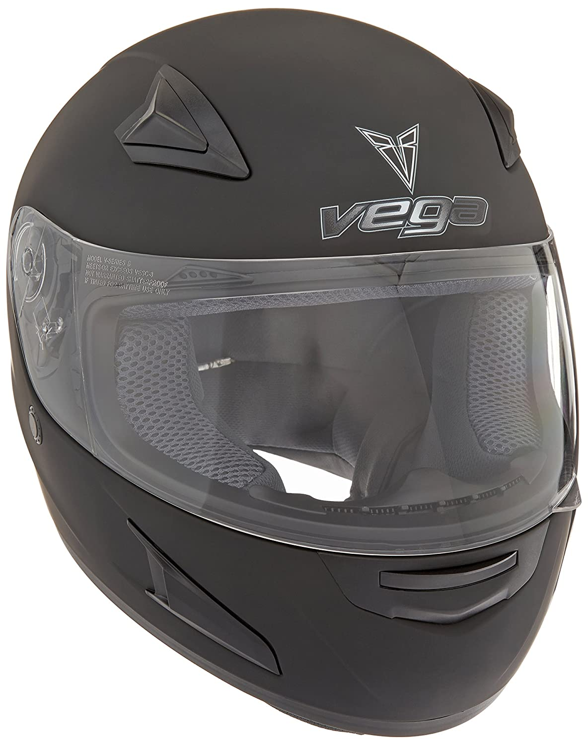Vega X888 Full Face Helmet Flat Black