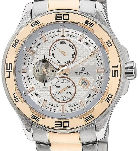 Titan Regalia Analog White Dial Men's Watch - 90008KM01J
