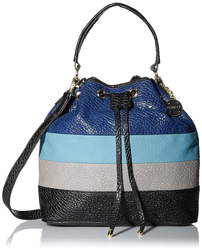 Rosetti Cassandra Drawstring Bucket Cross Body Bag, Colorblock Multi, One Size