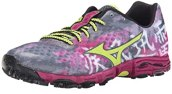 Mizuno Women's Wave Hayate Trail Running Shoe, Turbulence/Green Glow, 6 B US