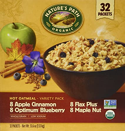 Nature's Path Organic Hot Oatmeal Variety Pack 32 Packets