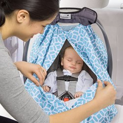 Summer Infant 2-in-1 Carry and Cover Infant Car Seat Cover, Diamond Links