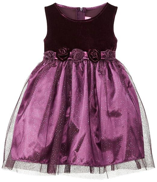 Good Lad Little Girls' Tulle Overlay Dress, Purple, 6X