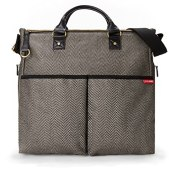 Skip Hop Duo Special Edition Diaper Bag, Black/Cream Herringbone