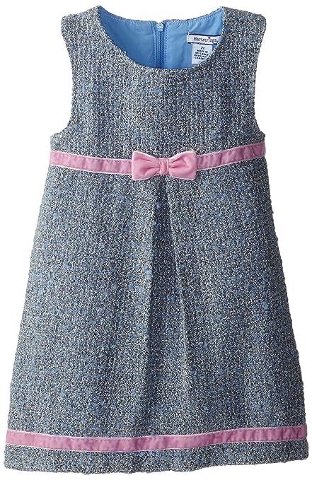Hartstrings Little Girls' Knit Boucle Dress, Ballet Blue, 4T