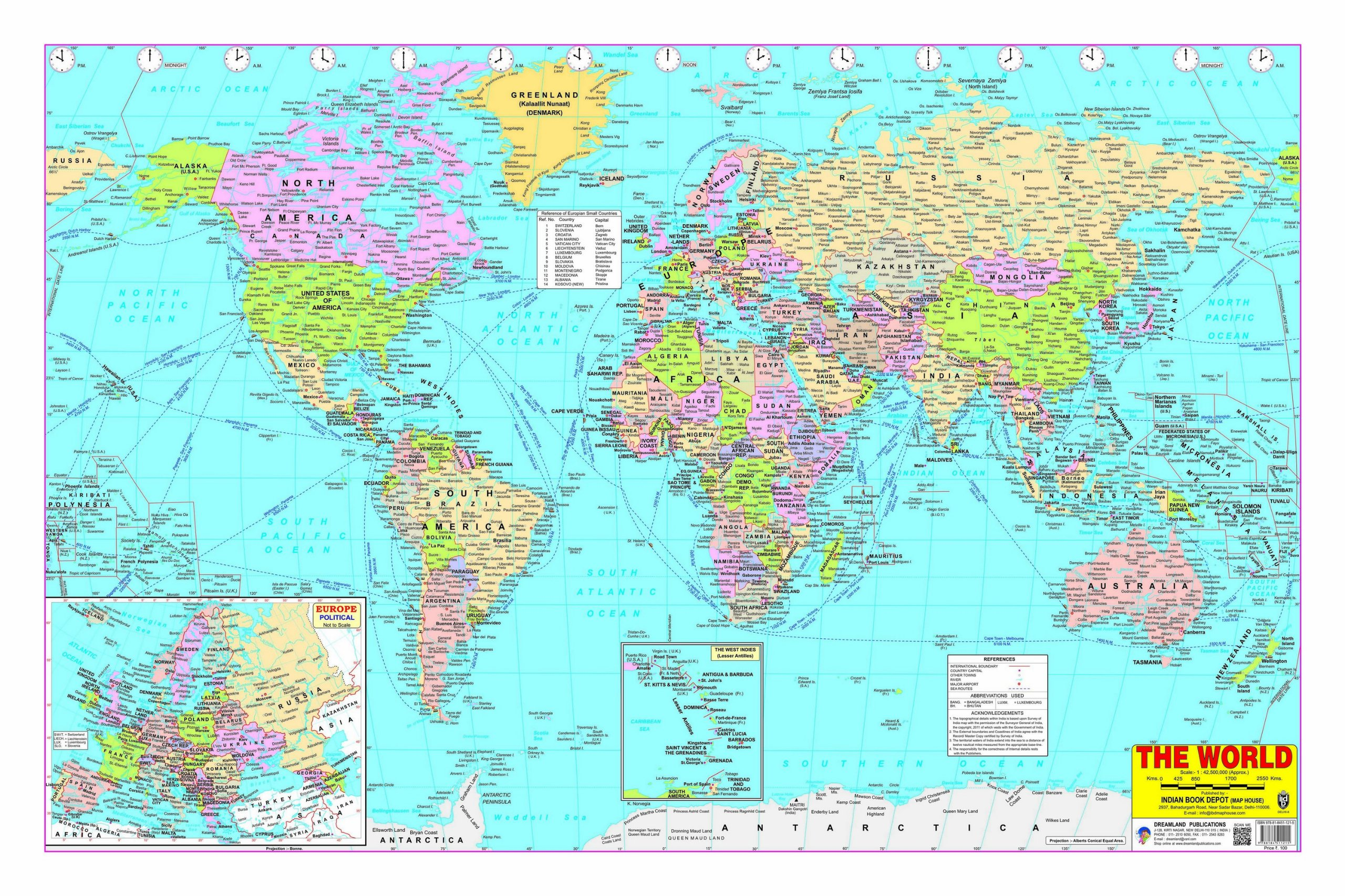 World Map Poster India Afp Cv