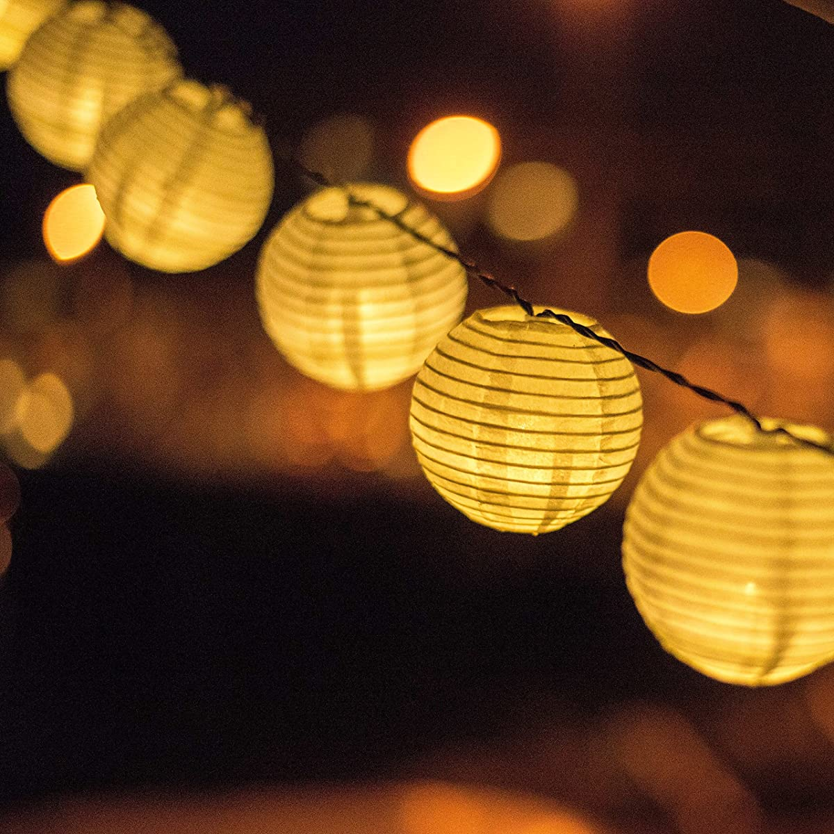 Solar Powered Lanterns String Lights Outdoor Lighting