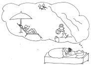 eczema cartoon Sun, the Sea...places where eczema child may be sensitive to
