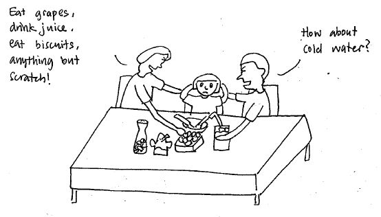 Meals with eczema toddler is about scratching distraction