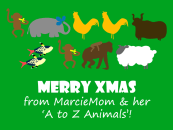 Christmas to A to Z Animals from Eczema children book