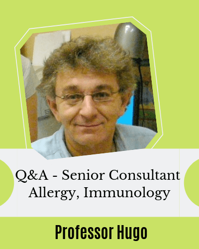 Q&A Senior Consultant Allergy Immunology Professor Hugo for EczemaBlues