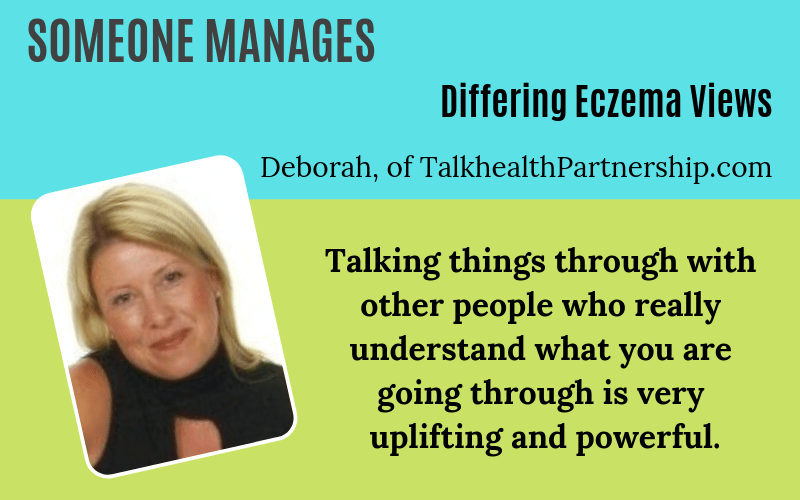 Someone has eczema Deborah Talkhealth Story on EczemaBlues