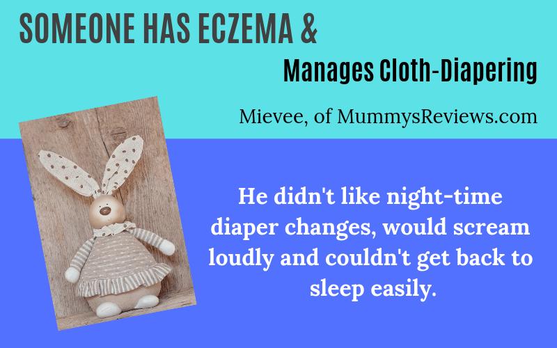Someone has eczema child cloth diaper Mievee Story on EczemaBlues