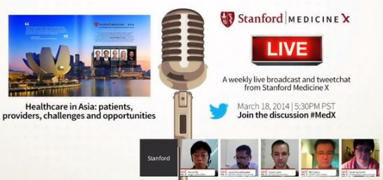 Gathering of Patients, Doctors, Educators and Tech in Stanford MedX Google Hangout - Privilege to be part of the panel