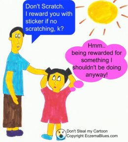 Reward chart for child for not scratching parenting