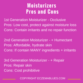 1st, 2nd and 3rd generation moisturizers - Pros and Cons