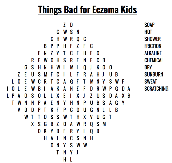 Learn about what is bad for our skin and build awareness with your eczema child to avoid these ingredients/ actions