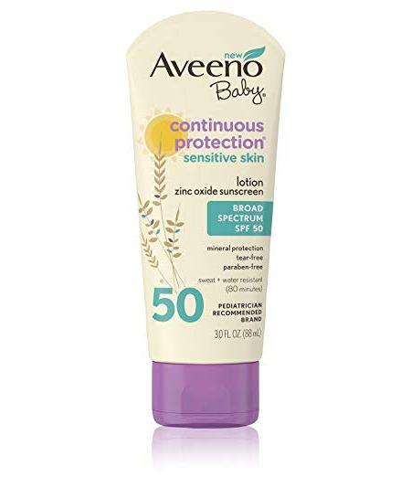 aveeno baby sunscreen sof50