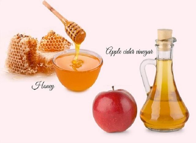 Combination of Honey and Apple Cider Vinegar