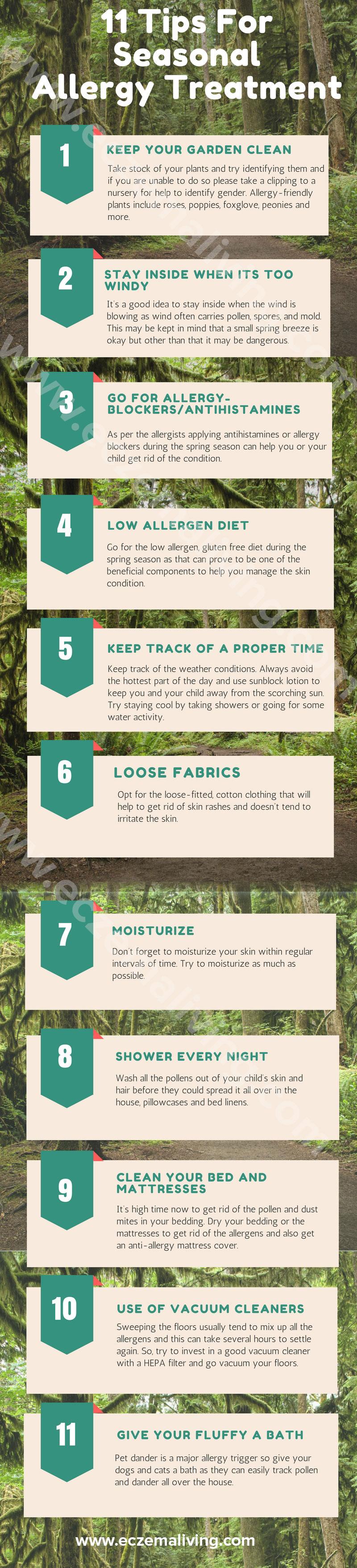 11 Tips for seasonal allergy treatment