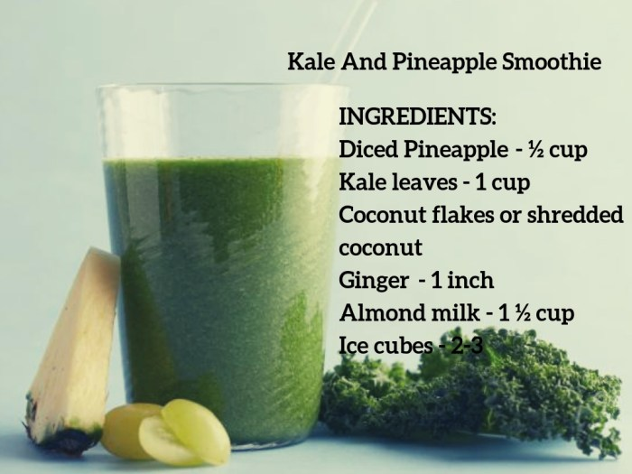 kale and pineapple smoothies for eczema