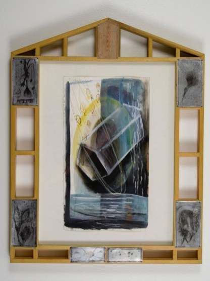"Elba Damast, ""Esudio 1418,"" 1991 Custom frame, acrylic and ink on paper.74cm X 51cm Collection of the family"